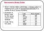 non numeric binary codes