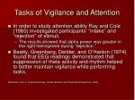 tasks of vigilance and attention