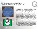 quaker banking 18 th 19 th c