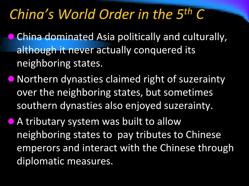 China's World Order in the 5