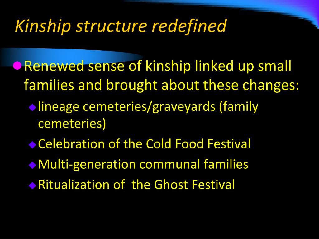 Kinship structure redefined