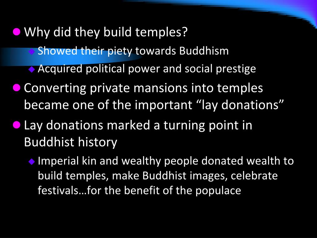 Why did they build temples?