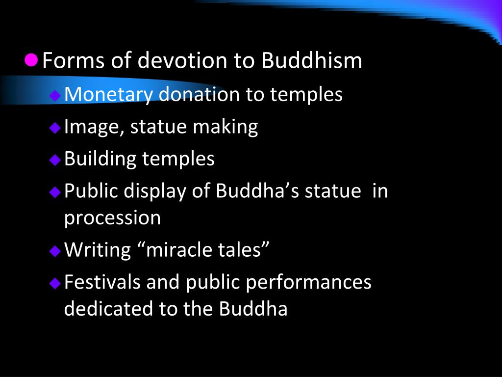 Forms of devotion to Buddhism