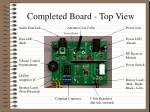 completed board top view