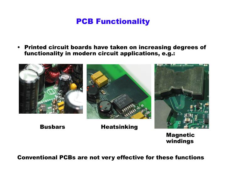 Pcb functionality