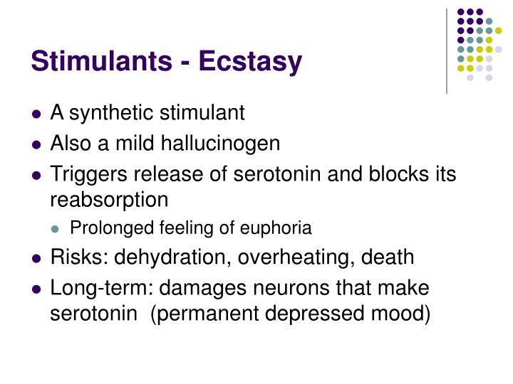 Stimulants - Ecstasy