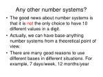 any other number systems