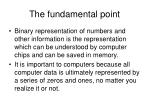 the fundamental point1