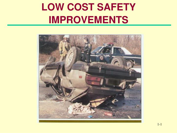 low cost safety improvements n.