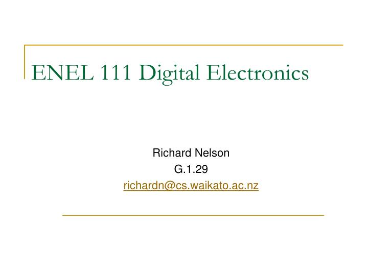 enel 111 digital electronics n.
