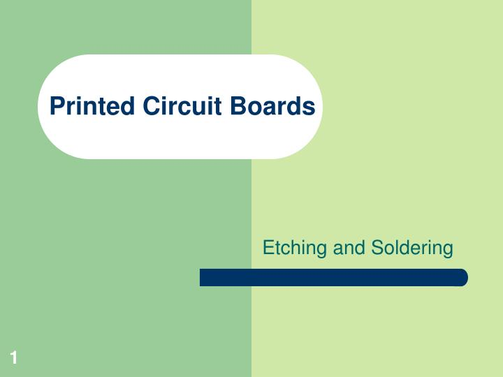 printed circuit boards n.