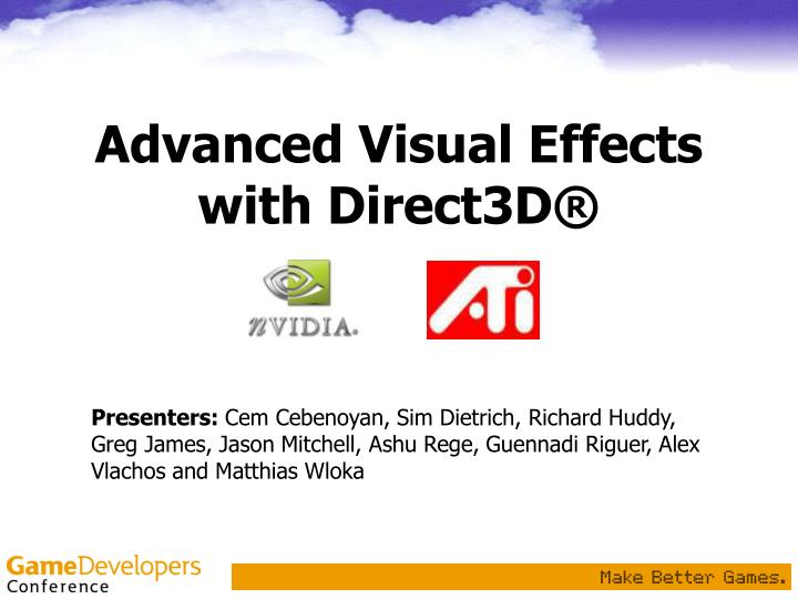 advanced visual effects with direct3d n.