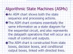 algorithmic state machines asms