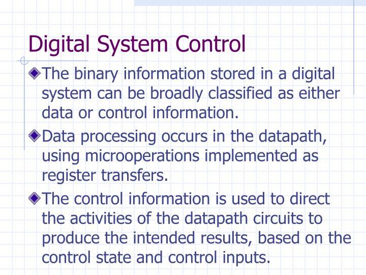 Digital system control