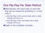 one flip flop per state method1