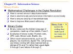 chapter 17 information science binary codes
