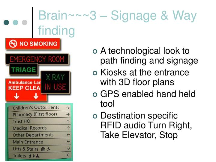 Brain~~~3 – Signage & Way finding