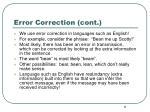 error correction cont
