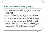 parity check sums cont1