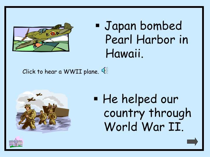 Japan bombed