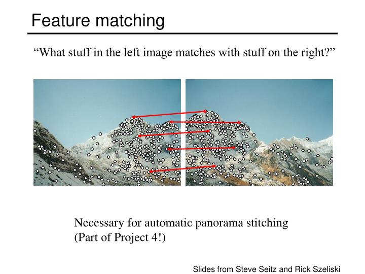 feature matching n.