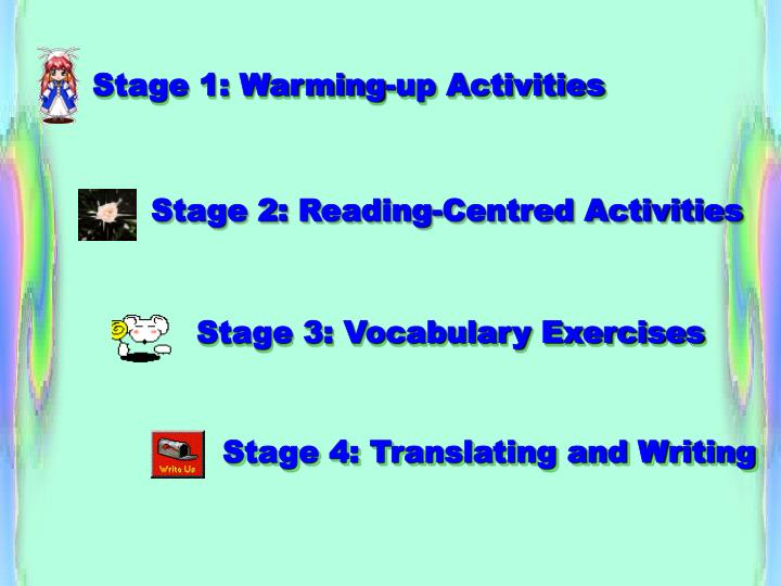 Stage 1: Warming-up Activities