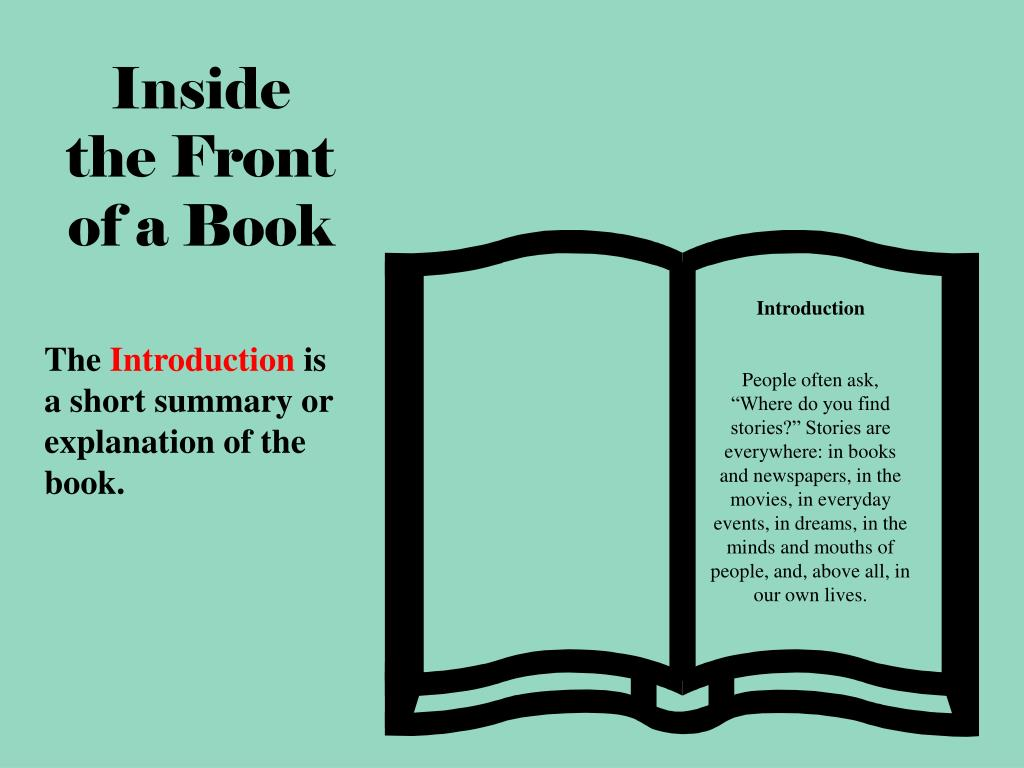 Inside the Front of a Book
