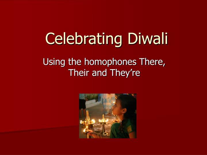 celebrating diwali n.