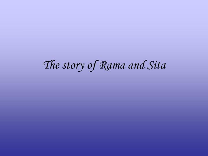 the story of rama and sita n.