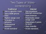 two types of video conferencing