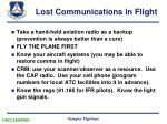 lost communications in flight