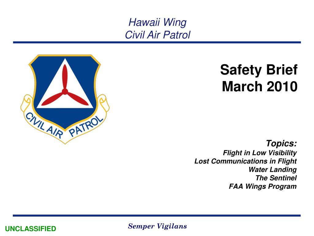 safety brief march 2010