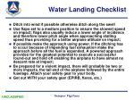 water landing checklist12