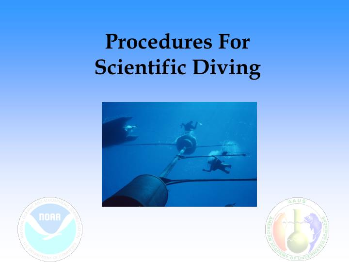 procedures for scientific diving n.