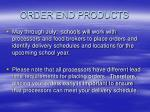 order end products