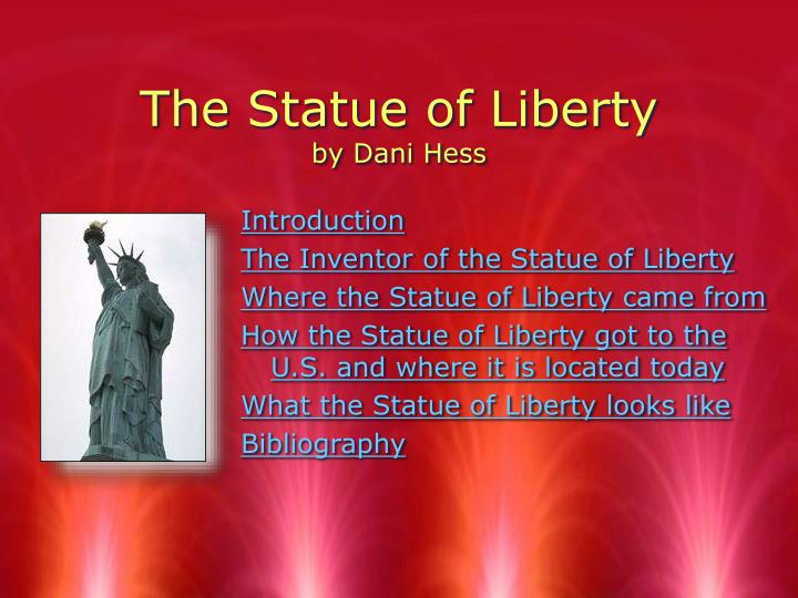 the statue of liberty by dani hess n.