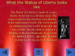 what the statue of liberty looks like