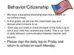 behavior citizenship