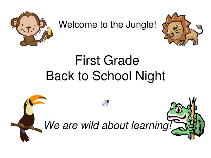 first grade back to school night n.
