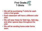 first grade t shirts