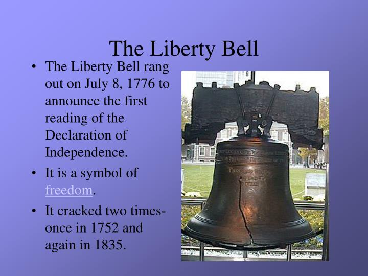liberty bell essay Free college essay liberty bell among the more obscure events in american history involves the liberty bell's travels by rail car around the united states.
