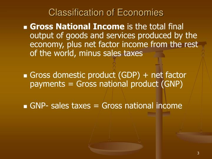 Classification of economies3