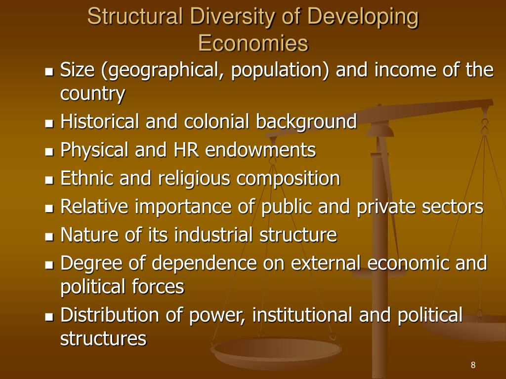 Structural Diversity of Developing Economies
