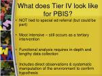 what does tier iv look like for pbis