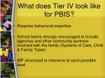 what does tier iv look like for pbis44