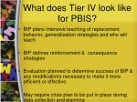 what does tier iv look like for pbis45