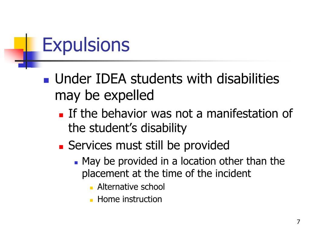 Expulsions