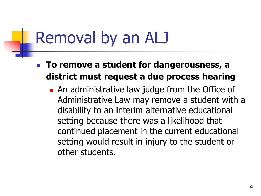 Removal by an ALJ