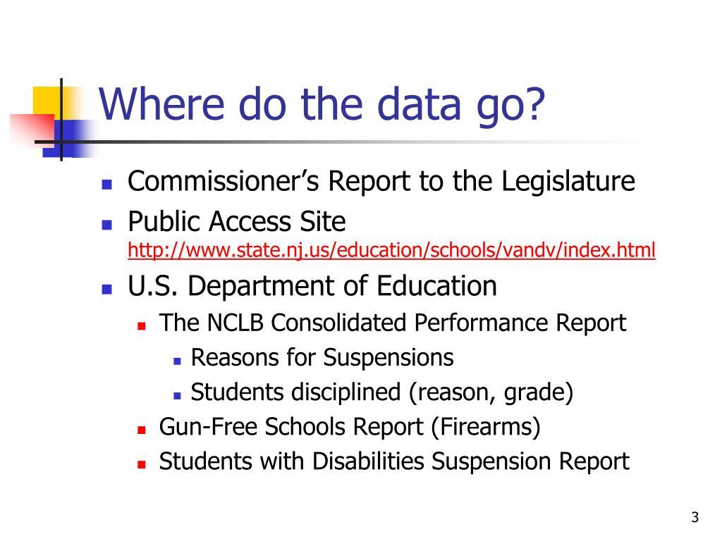 Where do the data go?
