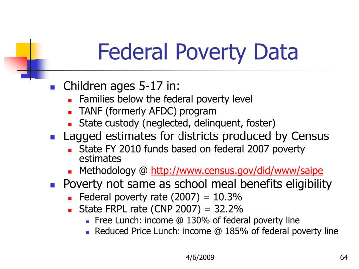 Federal Poverty Data